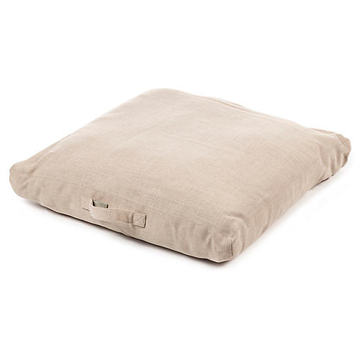 Napoli 27x27 Floor Pillow Cover, Flax Linen
