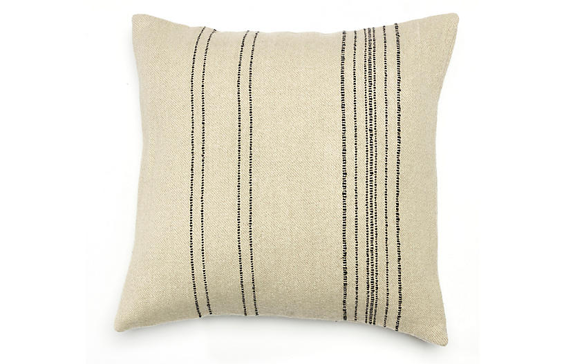The Moroccan 20x20 Pillow Cover, Stripe Linen