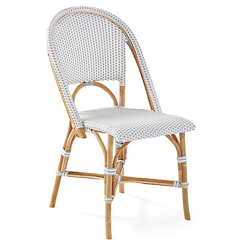Riviera Side Chair, Gray/White