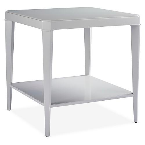 Square Side Table, Cobblestone