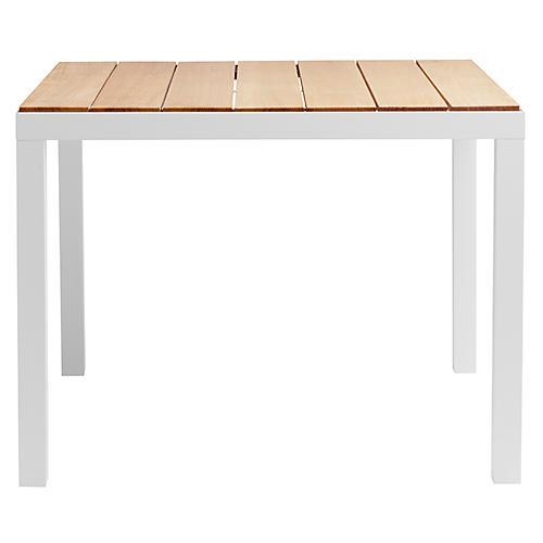 Natal Alu Teak Dining Table, White