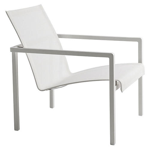 Natal Alu Lounge Chair, White