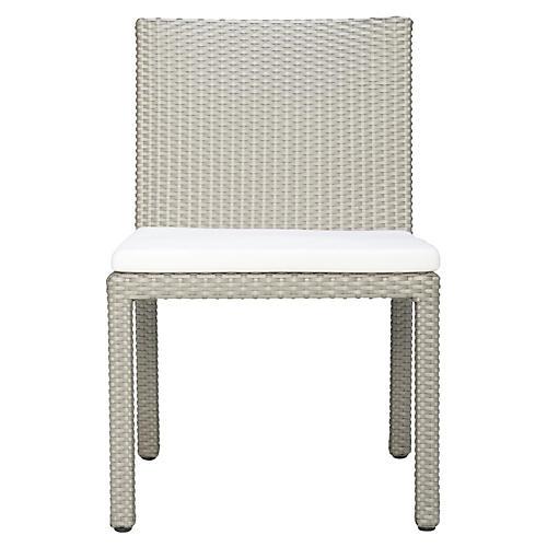 Milan Side Chair, Palladium