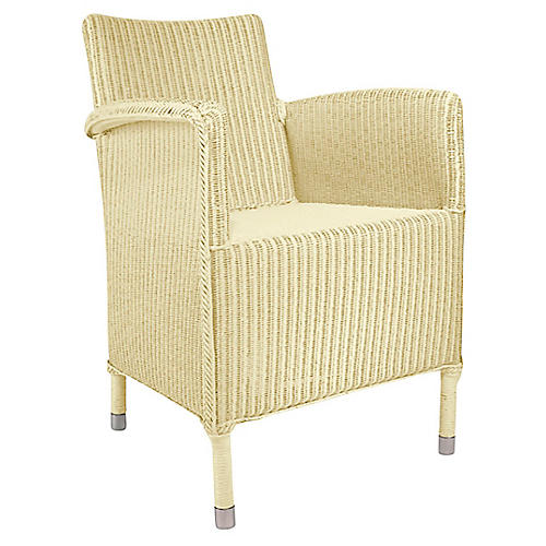 Deauville Armchair, Ivory