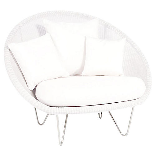 Gigi Lounge Chair, Snow White