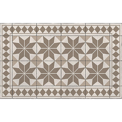 Galina Floor Mat, Sepia