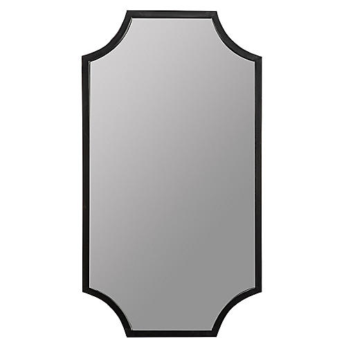 Malone Rectangular Wall Mirror, Black
