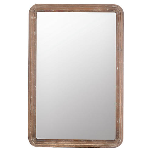 Clara Rectangular Wall Mirror, Natural