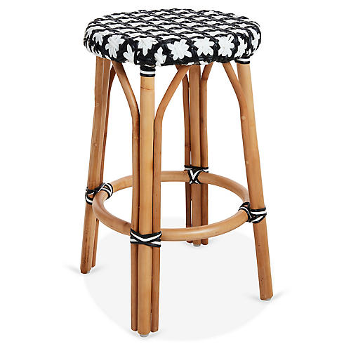 Olivia Bistro Counter Stool, Black/White