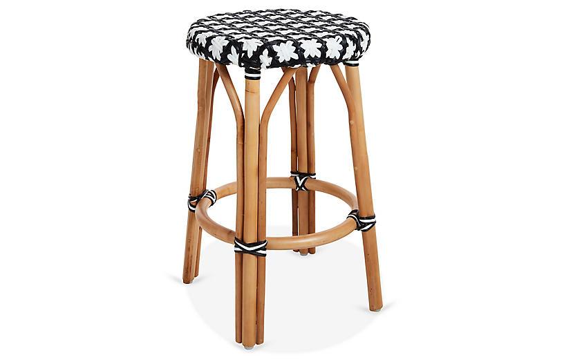Marvelous Olivia Bistro Counter Stool Black White Bralicious Painted Fabric Chair Ideas Braliciousco