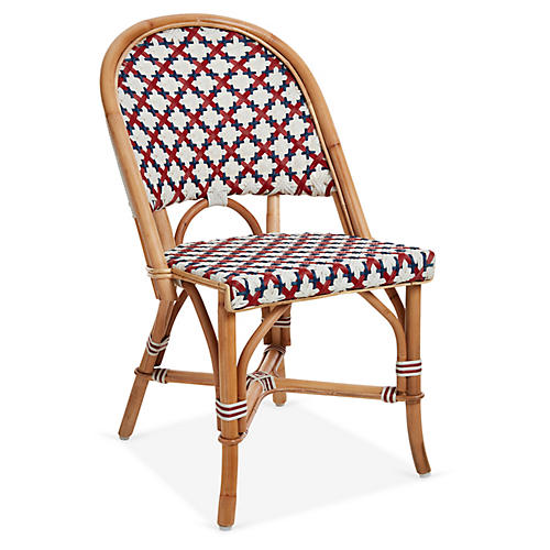 Olivia Bistro Chair, Burgundy/Navy