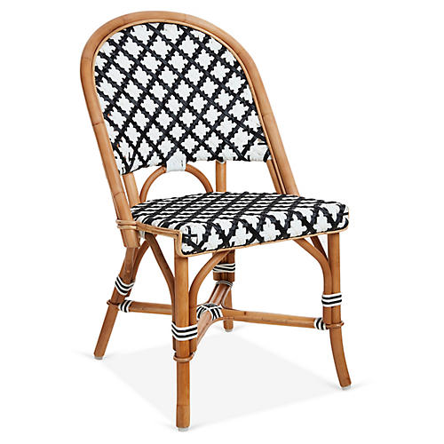 Olivia Bistro Chair, Black/White