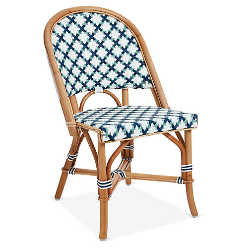 Olivia Bistro Chair, Navy/Sage
