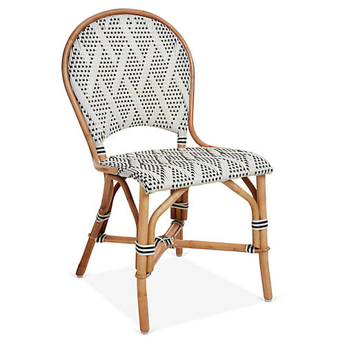 Margot Bistro Chair, Ivory/Black