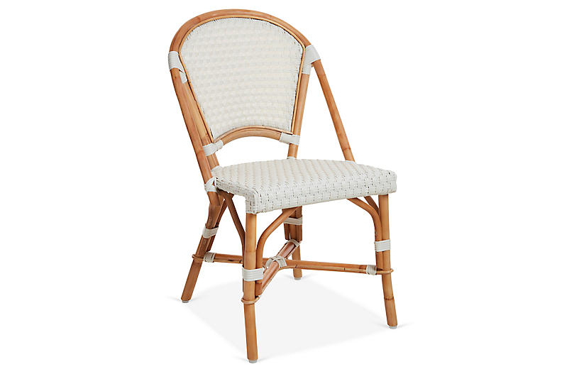 Chloe Bistro Chair, Ivory