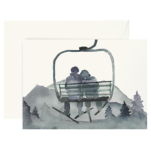 S/8 Gondola Love Boxed Cards