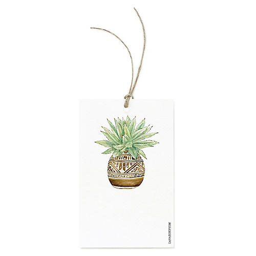 S/12 Succulent Planter Gift Tags