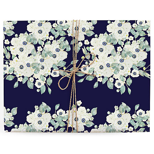 S/3 Anemone Gift Wrap Sheets