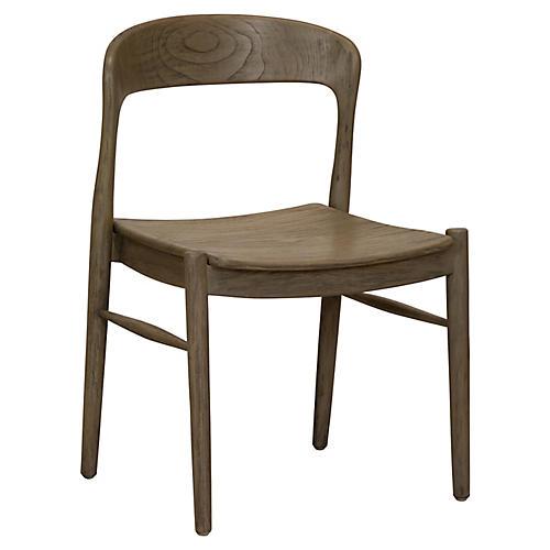 Ingrid Side Chair, Graywash