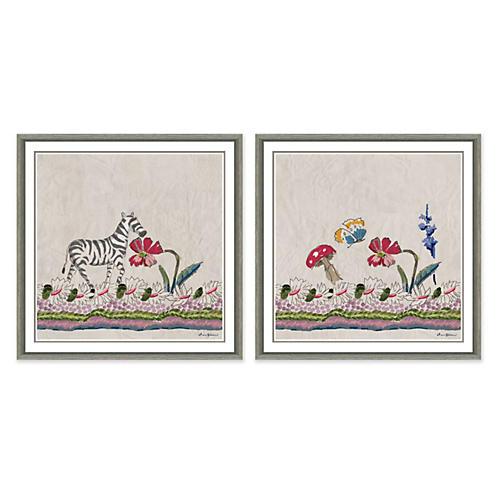 Dana Gibson, Botany With Zebra & Mushroom