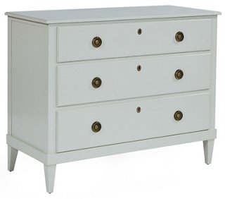 Adams 3-Drawer Dresser, Cream