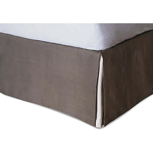 Canyon Clay Bed Skirt, Natural/Brown