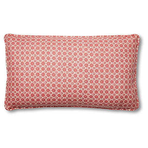 Palisades 15x26 Lumbar Pillow, Pink Linen