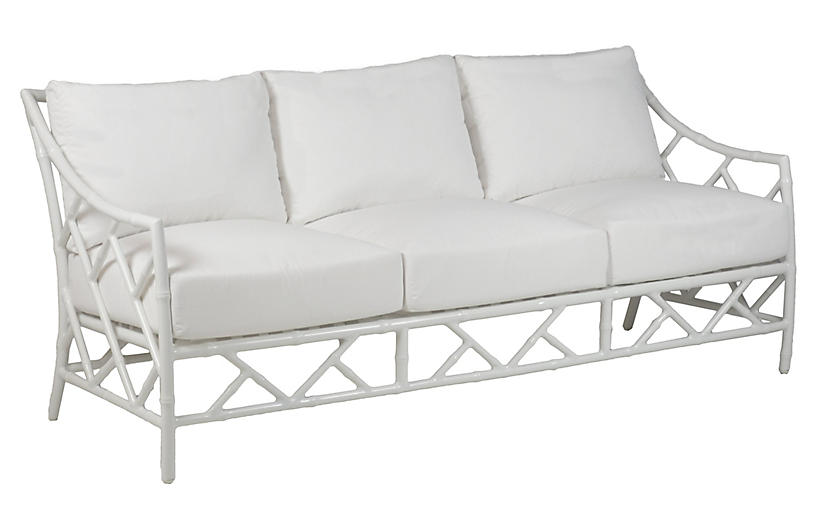 Kit Sofa, White Sunbrella