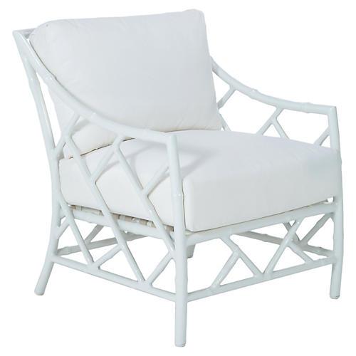 Kit Lounge Chair, White
