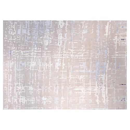 9'x12' Diamond Rug, Gray