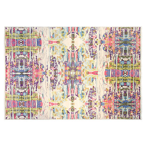 9'x12' Graphic Rug, Pink/Multi