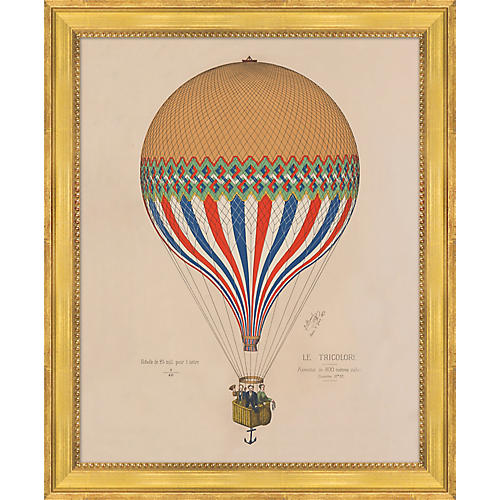 Hot Air Balloon 1874 Poster