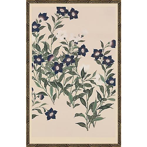 Floral Woodblock Print I