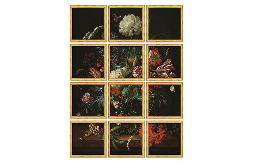 Detailed Flower Bouquet Polyptych II