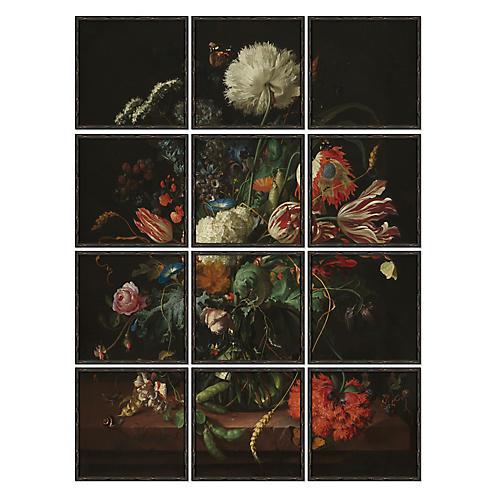 Detailed Flower Bouquet Polyptych II
