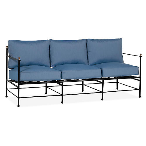 Frances Sofa, Ocean Blue