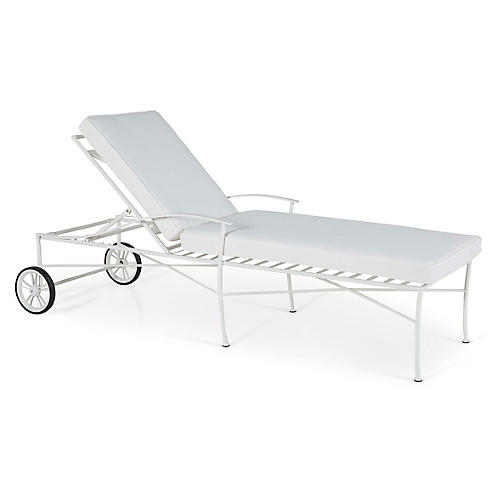 Kendal Chaise, White