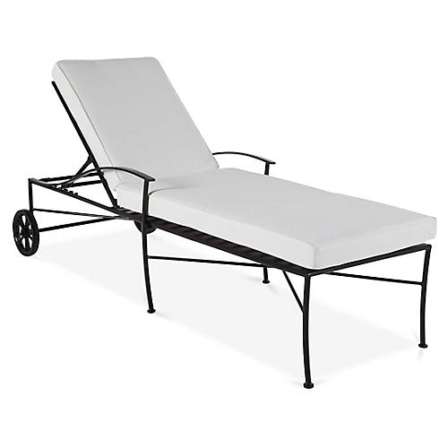 Kendal Chaise, Black/White