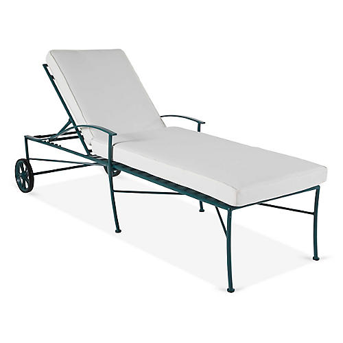 Kendal Chaise, White/Green
