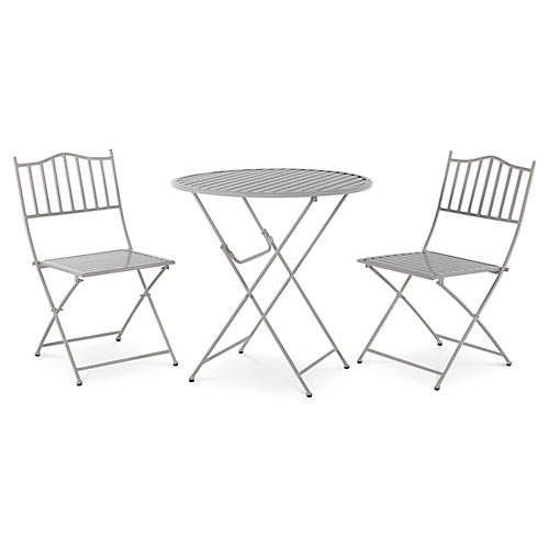 Natalie 3-Pc Folding Bistro Set, White