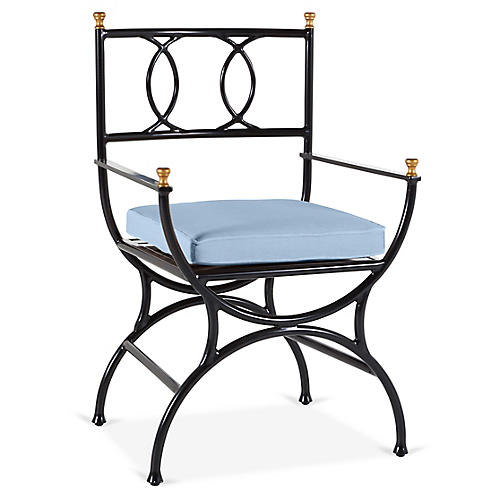 Frances Bistro Chair, Ocean Blue