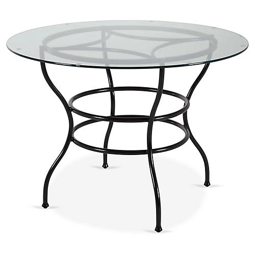Frances Round Dining Table, Black