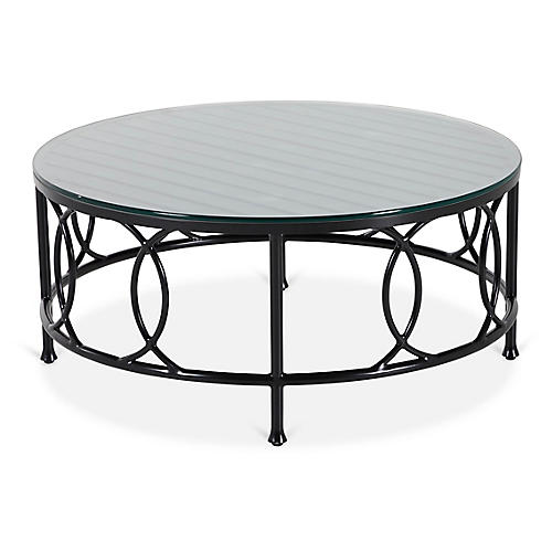 Frances Round Coffee Table, Black