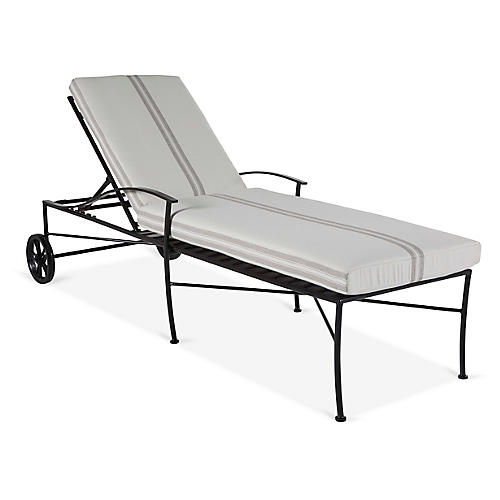 Kendal Chaise, Black/Pewter