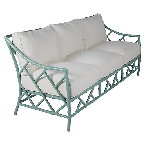 Kit Sofa, Celadon/White