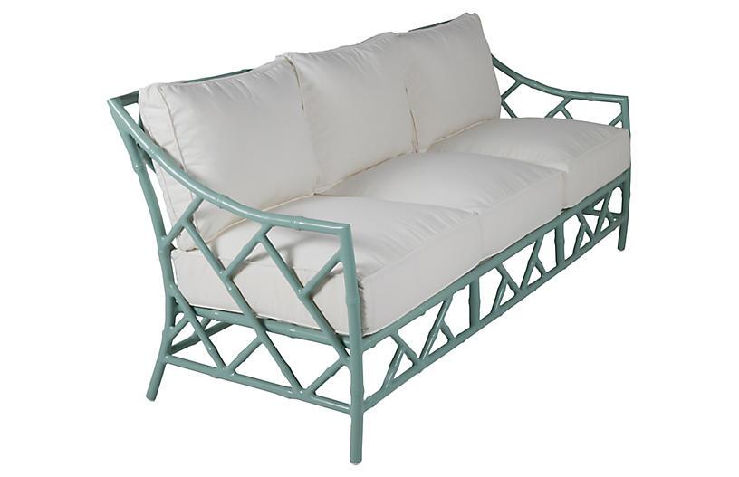 Kit Sofa, Celadon/White