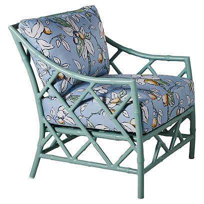 Kit Lounge Chair, Celadon/Lemons