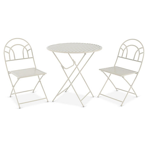 Stella Folding Bistro Set, White