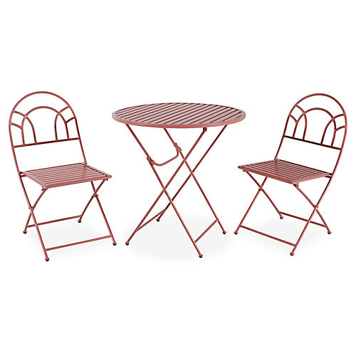 Stella 3-Pc Folding Bistro Set, Pink
