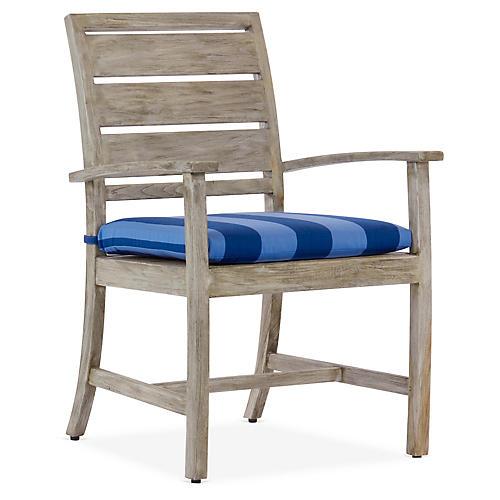 Charleston Armchair, Blue/Navy